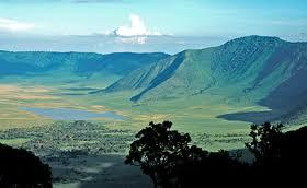 """The Ngorongoro Crater walls"""